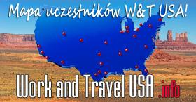 Forum dyskusyjne i mapa uczestników Work and Travel USA
